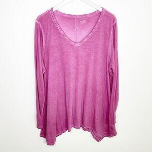 Lane Bryant pink long sleeve shirt 18/20
